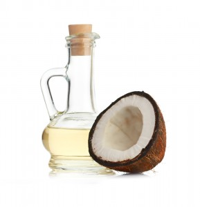Coconut oil and half a coconut