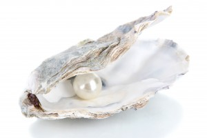 Oyster with a pearl inside