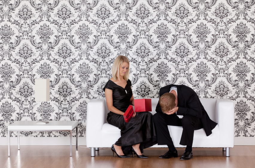 Woman disappointing with her husband's bad gift