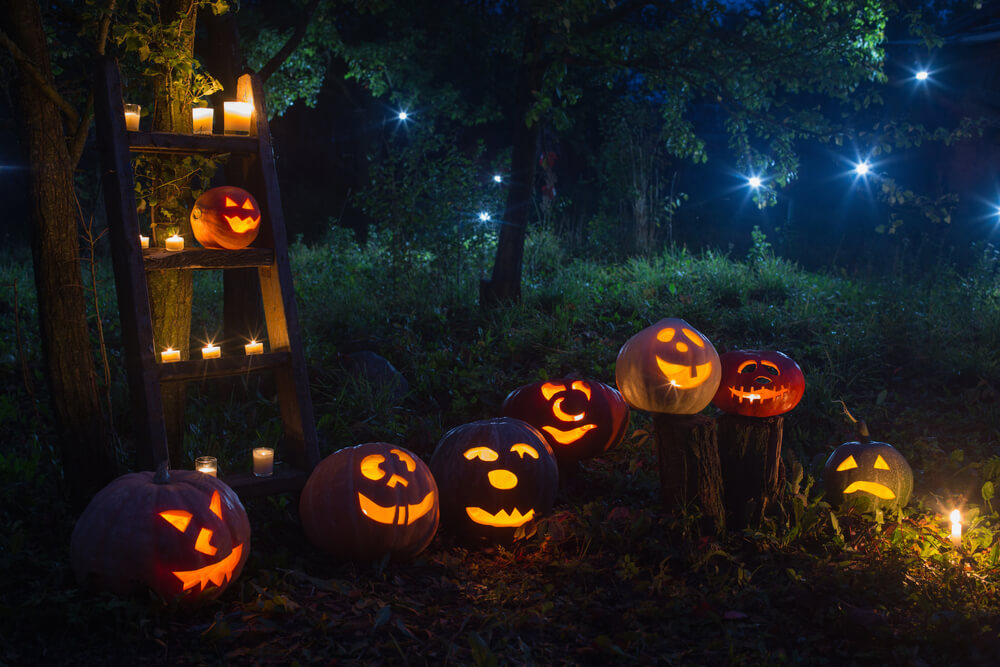 Lighting in carved pumpkins