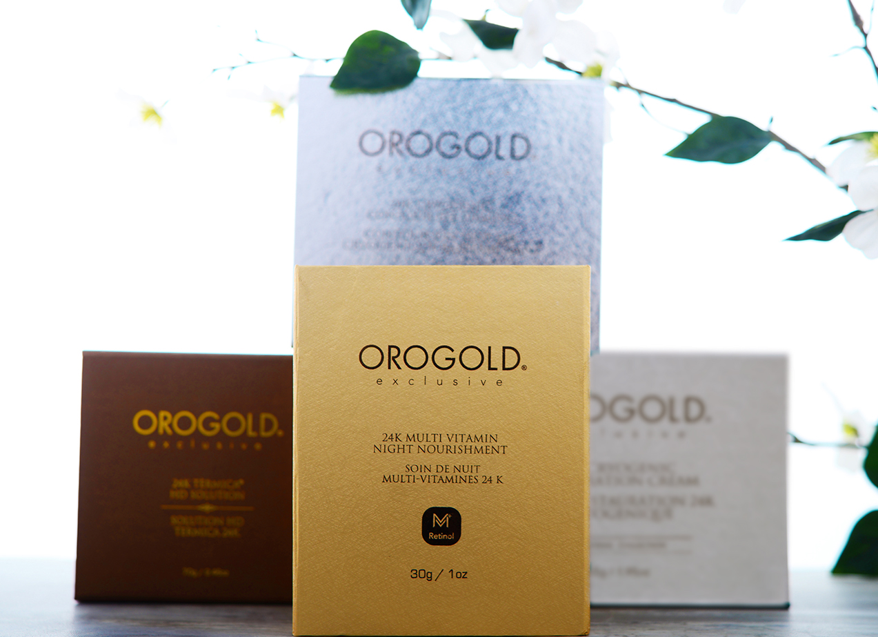 Orogold boxes stacked on top of each other