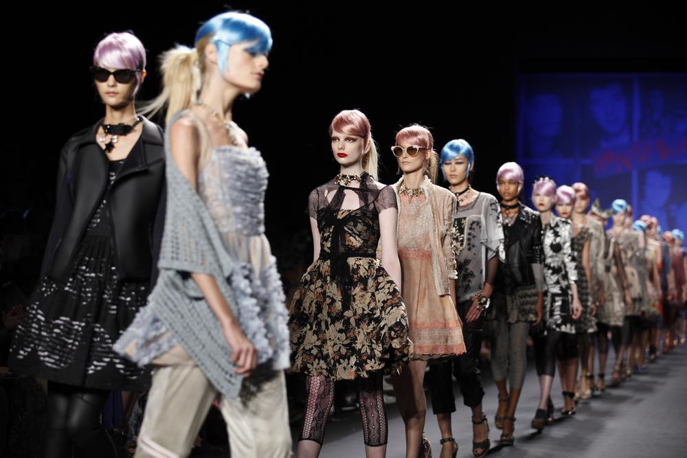 Models walking the runway at New York Fashion Week