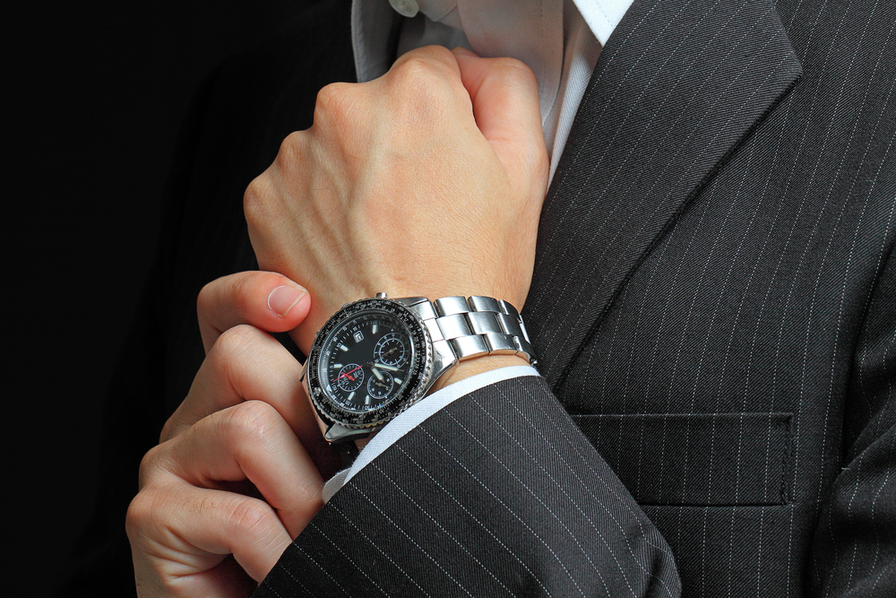 Man wearing a watch.