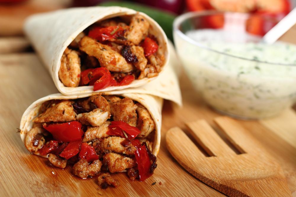 Chicken wrap.