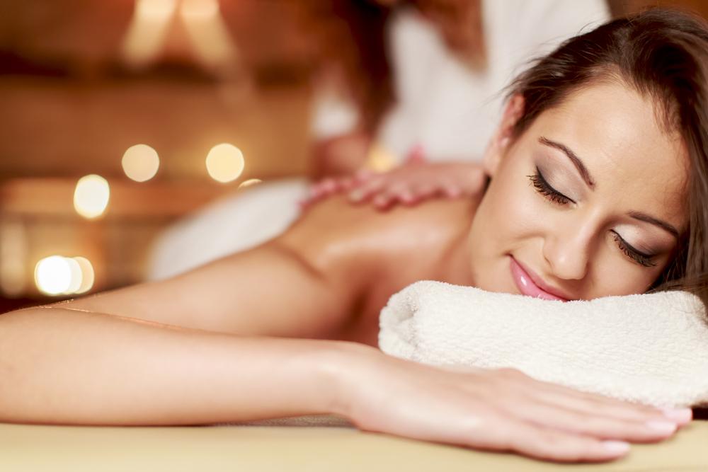Woman getting a spa massage