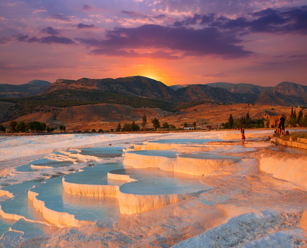 Mineral baths in Turkey.