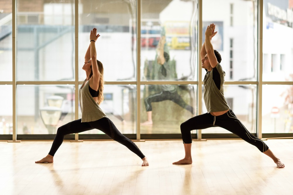Explore the benefits of couples' yoga