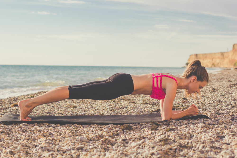 woman doing a plank exercise