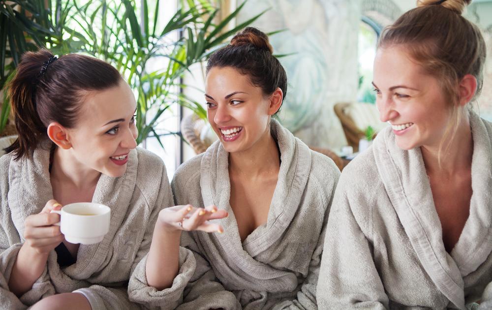 Women in a spa.