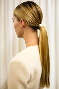 Golden ponytail holder