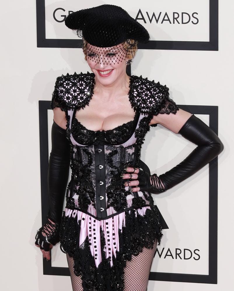2015 Grammy red carpet, Madonna