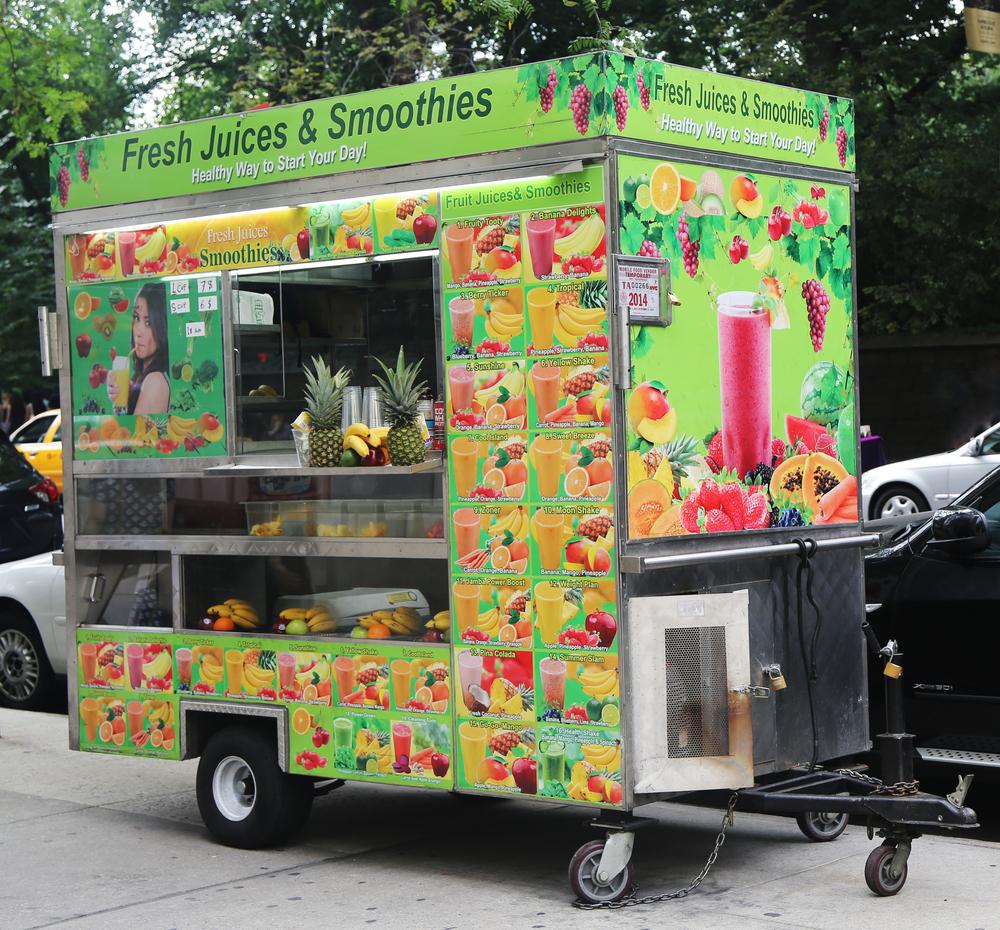 Juice food cart