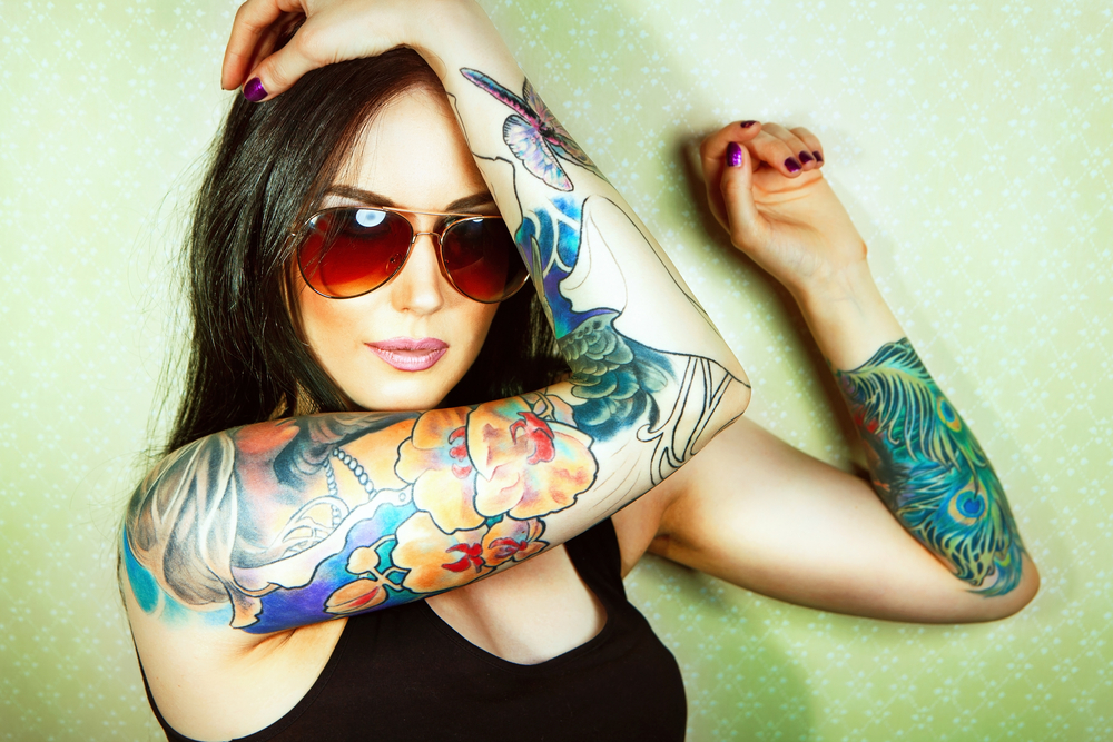 Woman with Tattoo