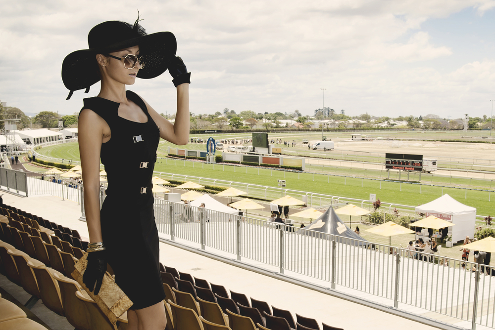 Woman at a derby event