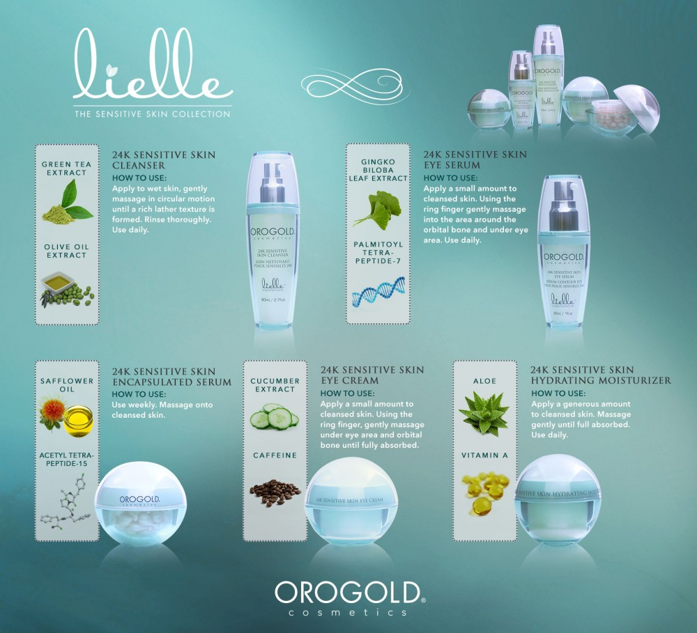 24K Sensitive Skin Collection from OROGOLD