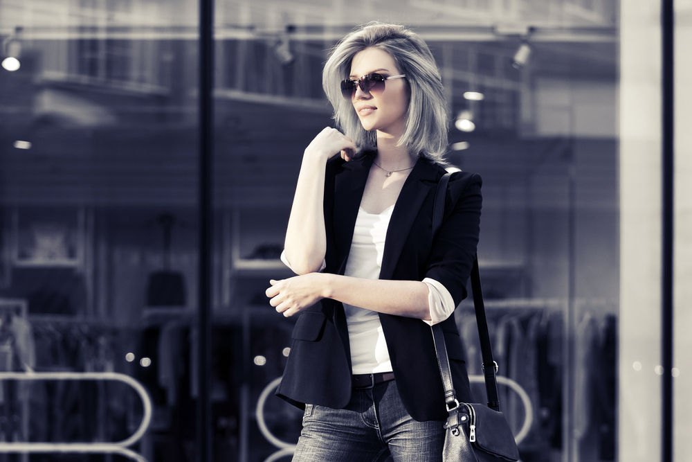 Woman wearing stylish clothes