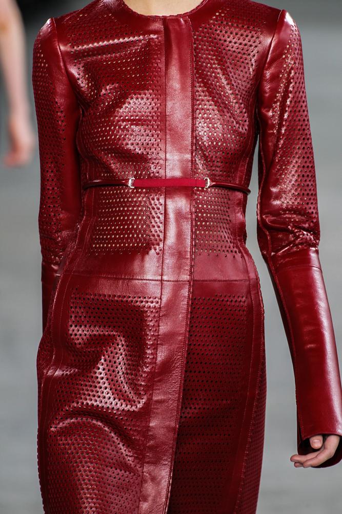 Close up of Calvin Klein garment at New York Fashion Week