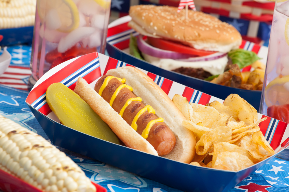 Menu for July 4th party