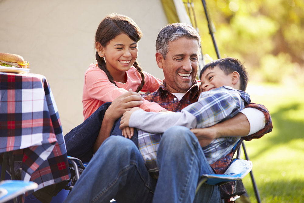 Father and children quality time