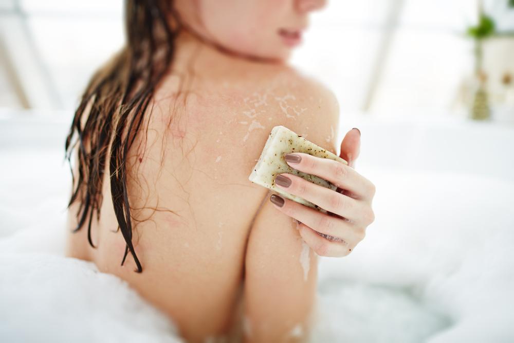 Exfoliating in the bath