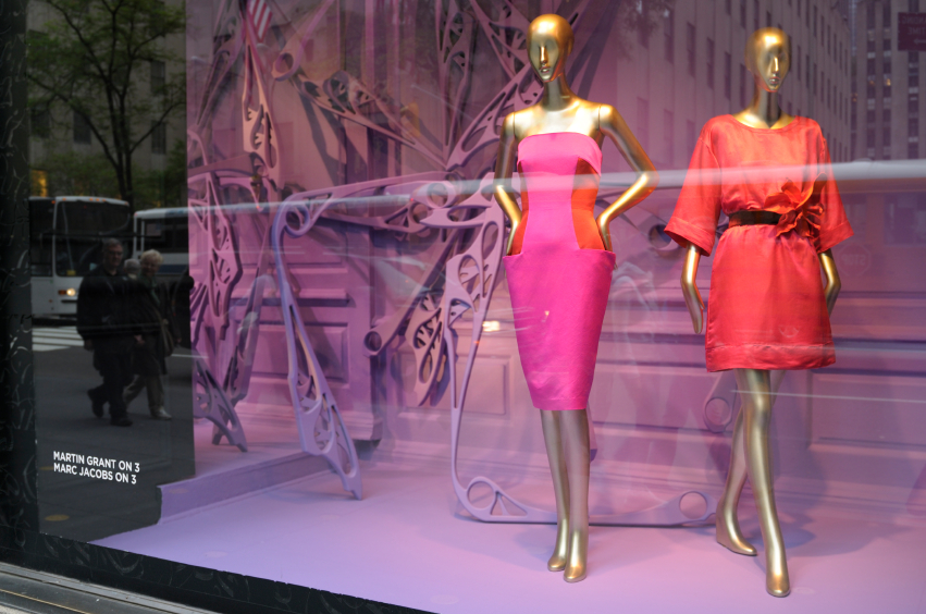 Luxury brands window display